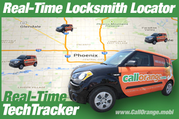 Real Time Locksmith GPS Map Locator