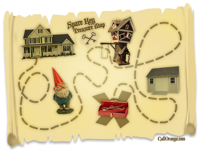 Spare key treasure map