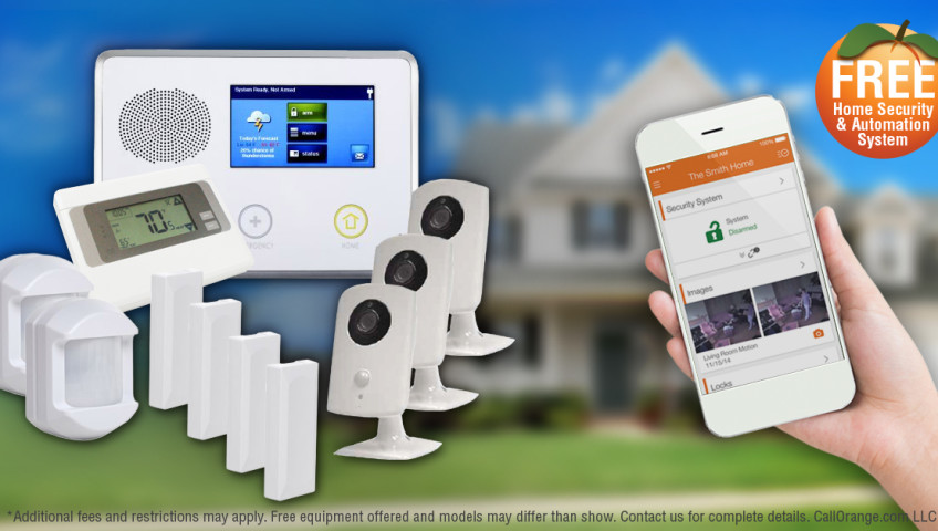 free home alarm security and automation