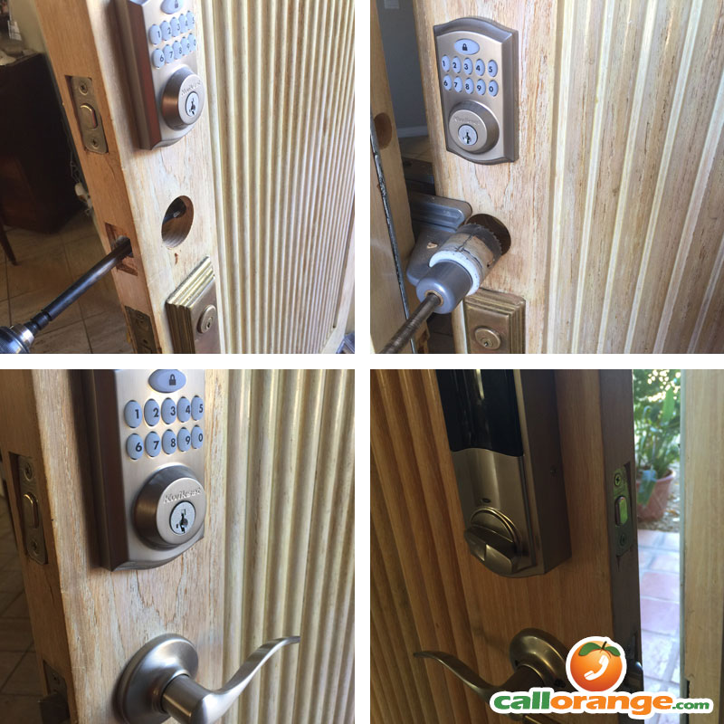 Home Door Keypad Deadbolt Install