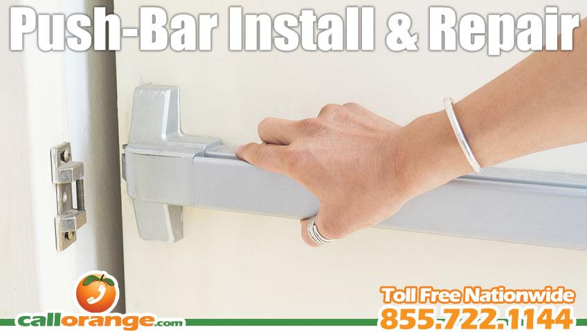 Push-Bar Installation and Emergency Exit Door Repair | CallOrange.com Locksmith Alarms and Home Automation  sc 1 st  CallOrange.com & Push-Bar Installation and Emergency Exit Door Repair | CallOrange ...