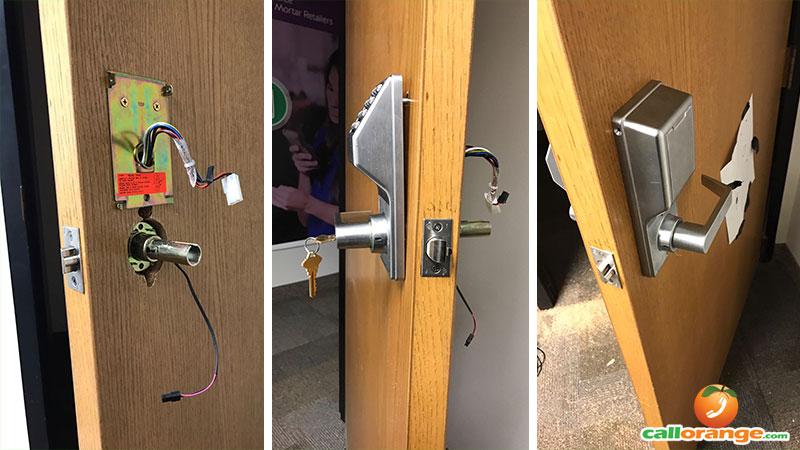 electronic door keypad lock installation