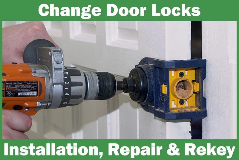 change door locks rekey